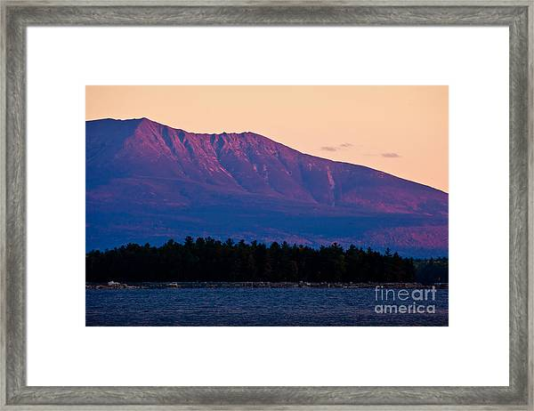 Framed Print featuring the photograph Purple Mountains Majesty by Susan Cole Kelly