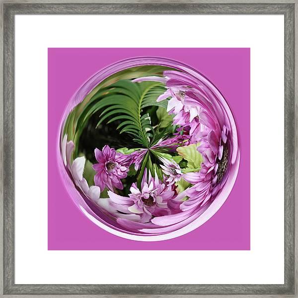 Purple Orb Framed Print