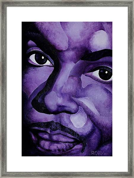 Purple Reign Framed Print