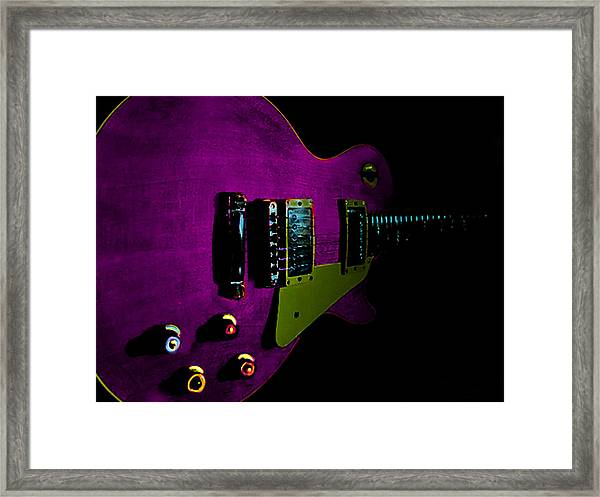 Purple Relic Les Paul II Hover Series Framed Print