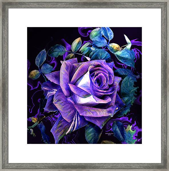 Purple Rose Bud Painting Framed Print