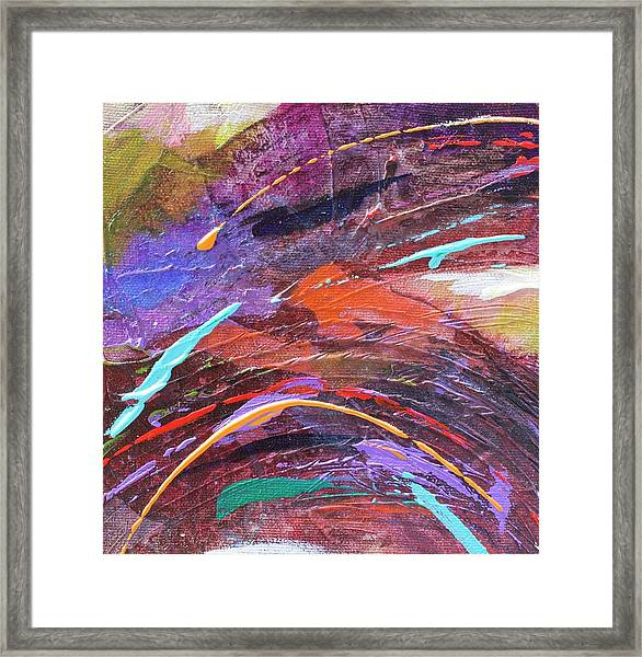 Purple Rush Framed Print