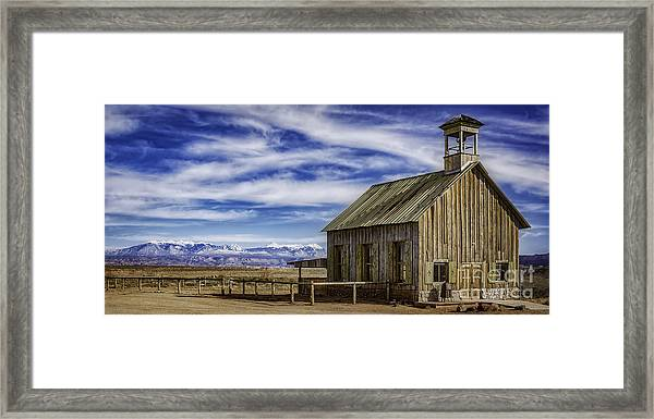 Purple Sage Church Framed Print