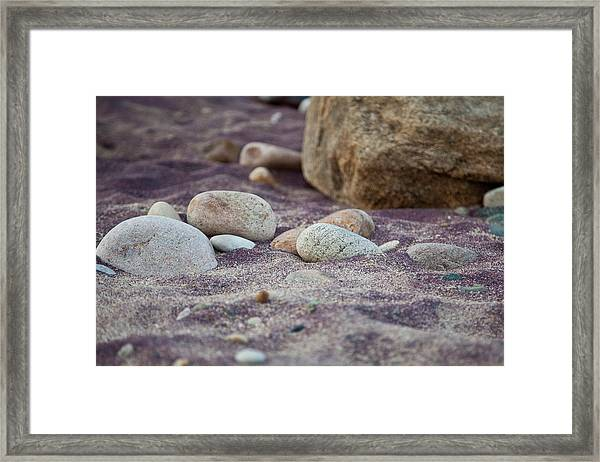 Purple Sand Framed Print