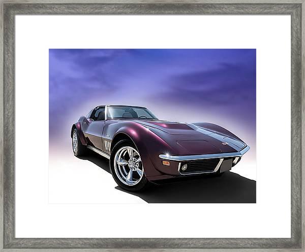 Purple Stinger Framed Print