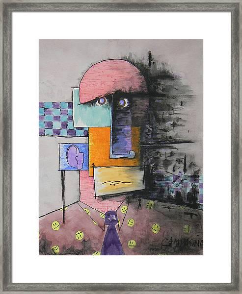 Purple Tie Framed Print