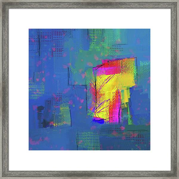 Purplish Rain Framed Print