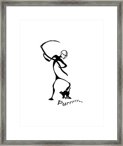 Purrrrr Framed Print