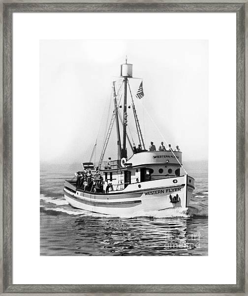 Purse Seiner Western Flyer On Her Sea Trials Washington 1937 Framed Print