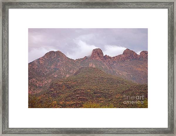 Pusch Ridge Tucson Arizona Framed Print