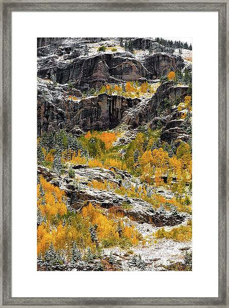 Push Starting Winter Framed Print