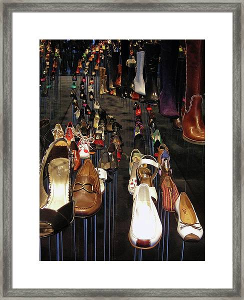 Put Your Shoes ... Framed Print