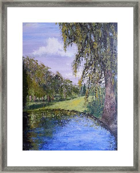 Putting Green Pond Framed Print