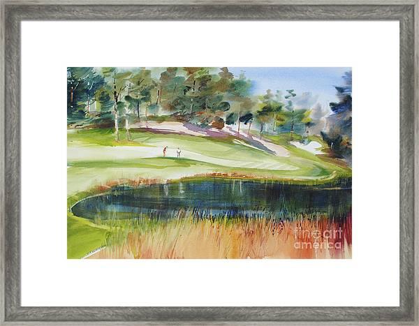 Putting Pine Hills Framed Print
