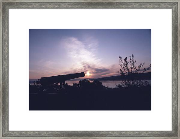 Putting Up The Sun Framed Print