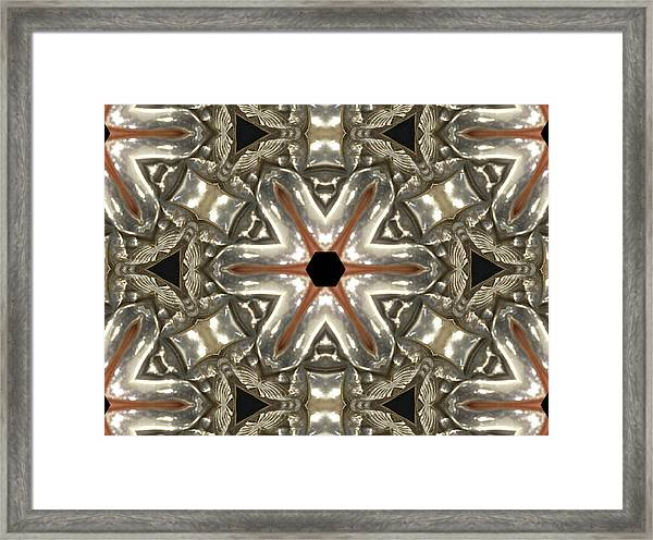Puzzle In Taupes Framed Print