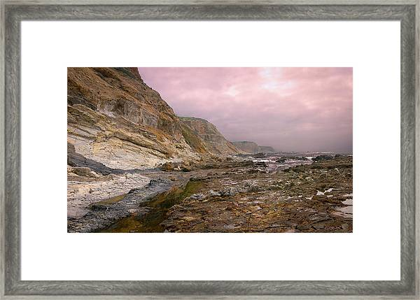 Pv Cliffs Framed Print