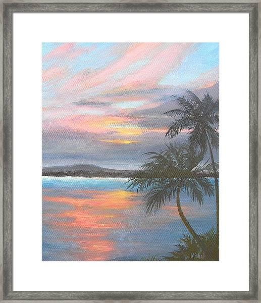 Pv Skies  Framed Print