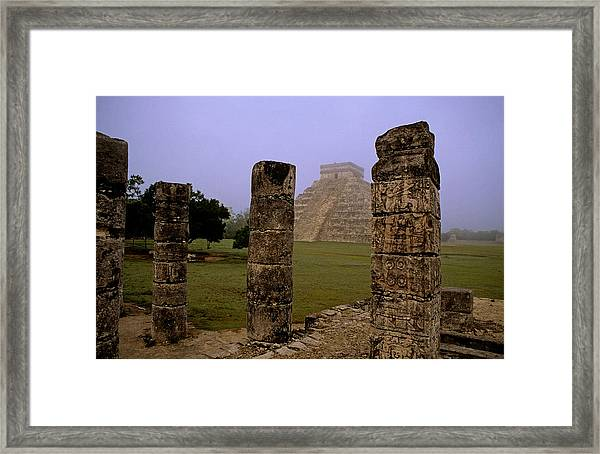 Pyramid At Chichen Itza Framed Print
