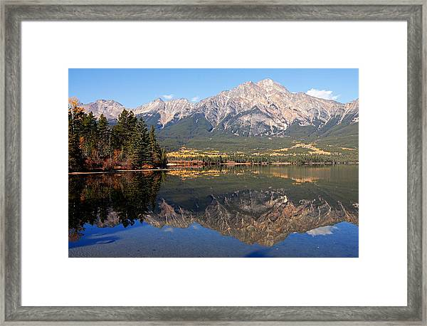 Pyramid Mountain And Pyramid Lake 2 Framed Print