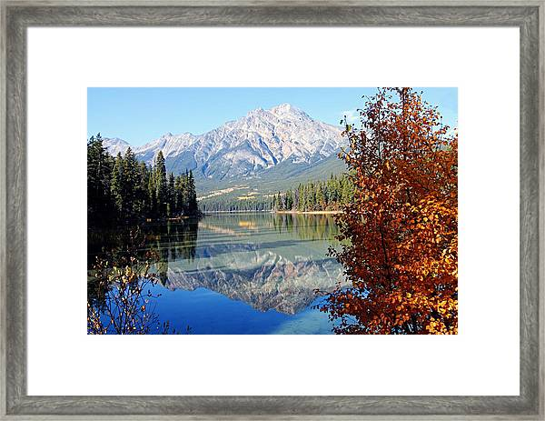 Pyramid Mountain Reflection 3 Framed Print