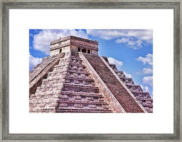 Pyramid Of Kukulcan At Chichen Itza Framed Print
