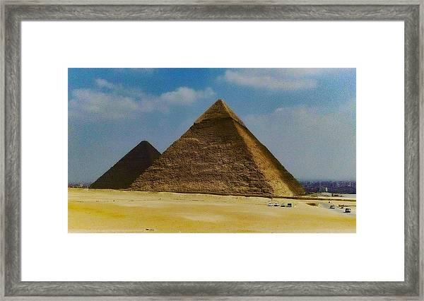 Pyramids, Cairo, Egypt Framed Print