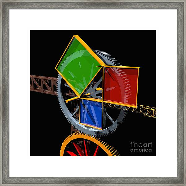 Pythagorean Machine Framed Print