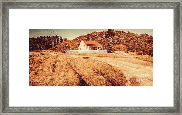 Quaint Country Cottage Framed Print