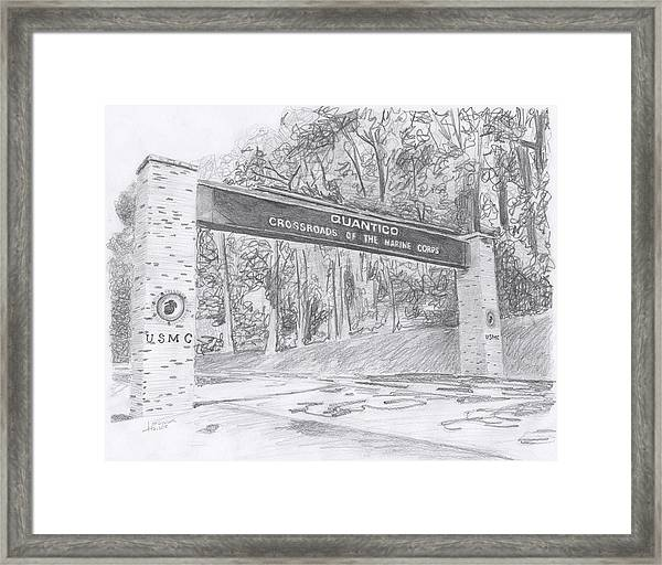 Quantico Welcome Graphite Framed Print