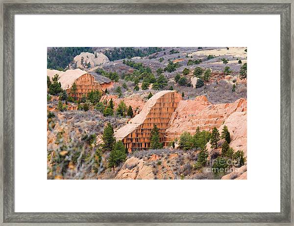 Quarry At Red Rock Canyon Colorado Springs Framed Print
