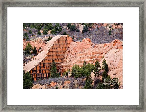 Quarry Closup At Red Rock Canyon Colorado Springs Framed Print