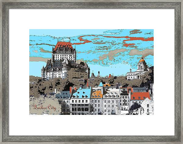 Quebec City Canada Poster Framed Print