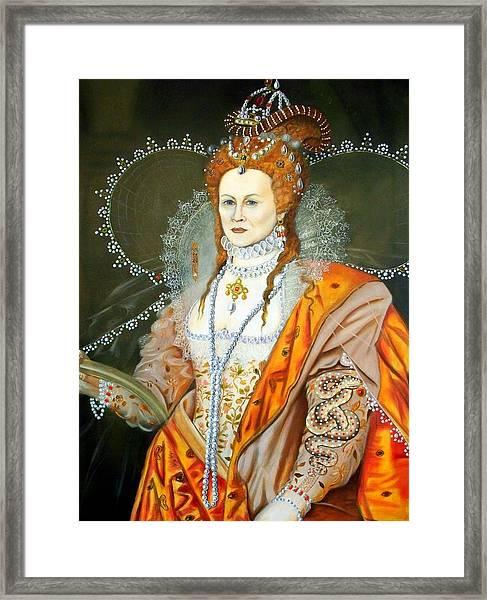Queen Elizabeth After Oliver Framed Print