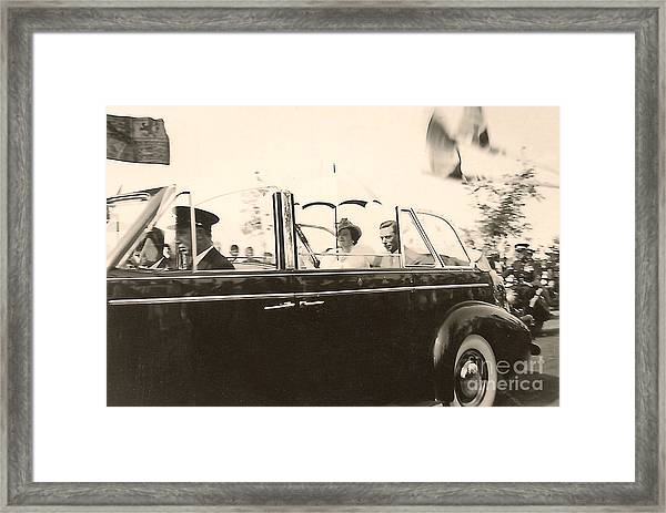 Queen Elizabeth And King George Vi Framed Print