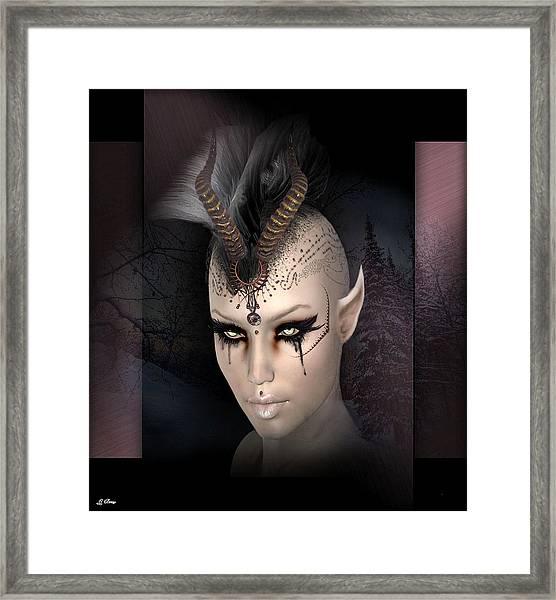 Queen Of Goth 008 Framed Print