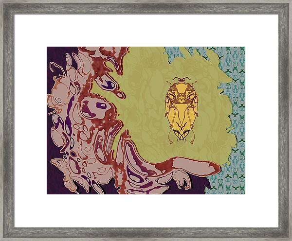 Queen Scarab Framed Print