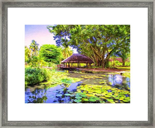 Queen's Pond Tahiti Framed Print