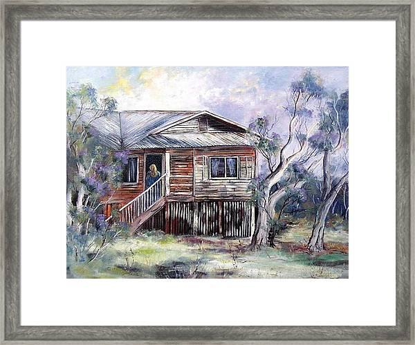 Queenslander Style House, Cloncurry. Framed Print