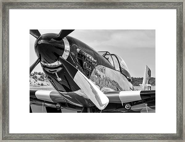Quick Silver Mustang Framed Print
