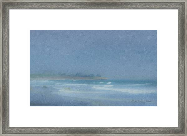 Foggy Afternoon At Little Compton Ri Framed Print