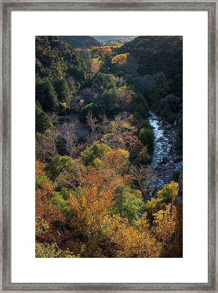 Quiet Canyon Framed Print