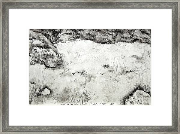 Quiet Hill Framed Print