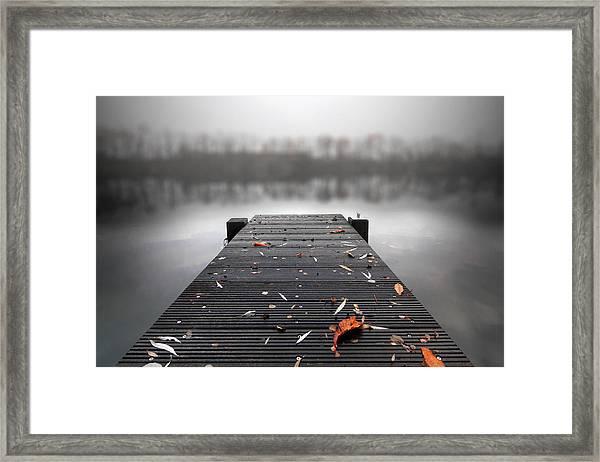 Quiet Lake Framed Print