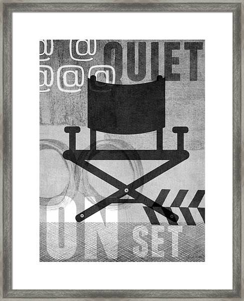 Quiet On Set- Art By Linda Woods Framed Print