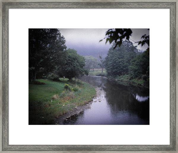 Quiet Stream- Woodstock, Vermont Framed Print