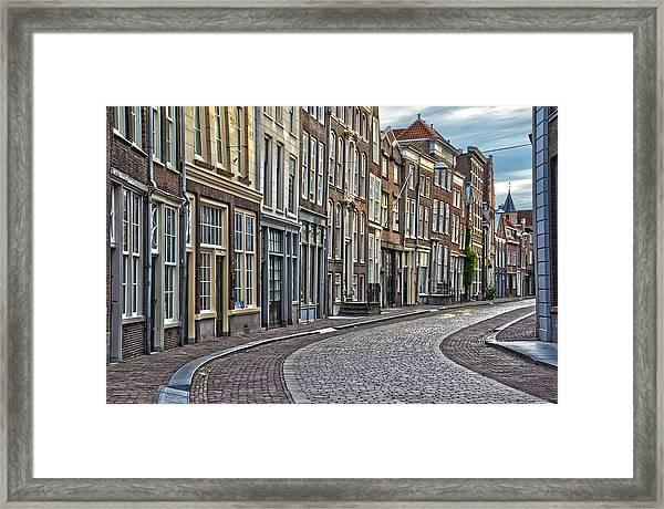 Quiet Street In Dordrecht Framed Print
