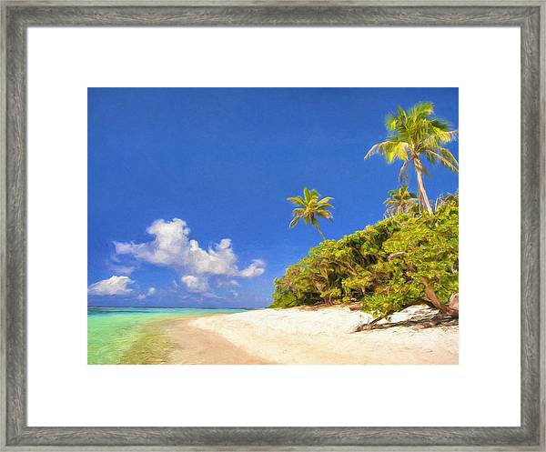Quiet Tahiti Beach Framed Print