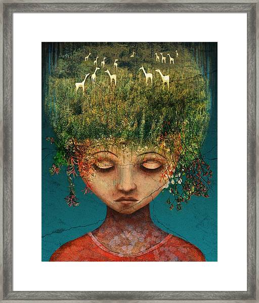 Quietly Wild Framed Print