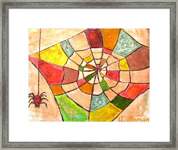 Quilted Web Framed Print
